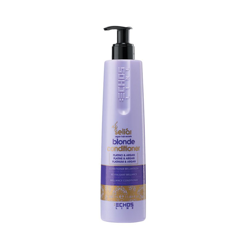 conditioner gia ksantha ntekaparismena mallia seliar blonde 350ml echosline